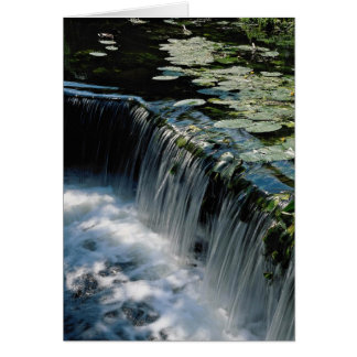 Weir on river greeting card