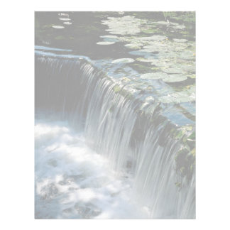 Weir on river letterhead