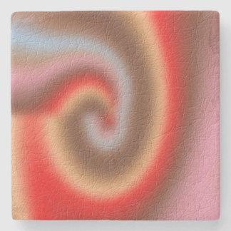 Weird abstract pattern stone beverage coaster