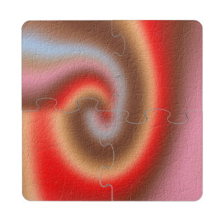 Weird abstract pattern puzzle coaster