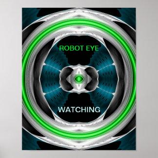 Weird Art - ROBOT EYE Poster