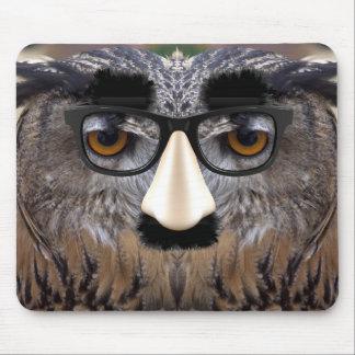 Weird Bird With Carneval Mask Mousepad