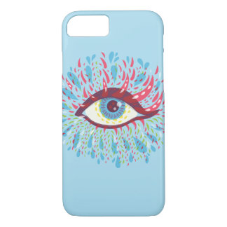 Weird Blue Psychedelic Eye iPhone 7 Case