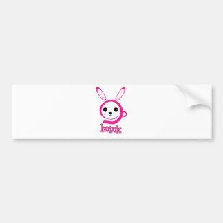 weird bunny bumper sticker