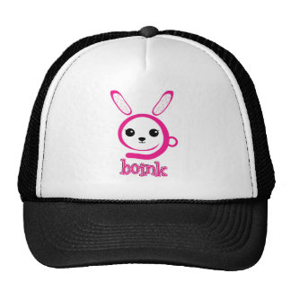 weird bunny trucker hat