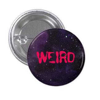Weird button, space background. pinback button