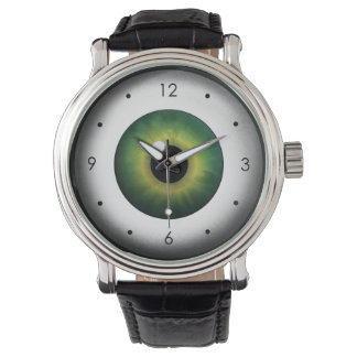 Weird Cool Green Eye Eyeball Custom Wrist Watch