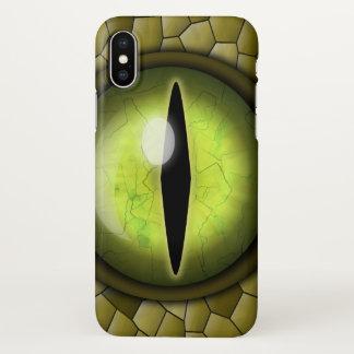 Weird Creepy Snake Eye Eyeball and Skin Glossy iPhone X Case