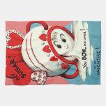 Weird Cute Funny Sugar Bowl Heart Valentine Towels