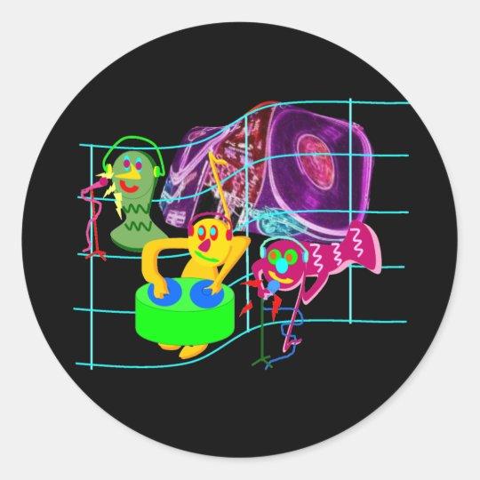 Weird DJ's Party Classic Round Sticker
