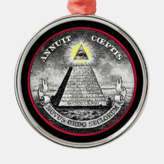 Weird Dollar Symbol Metal Ornament