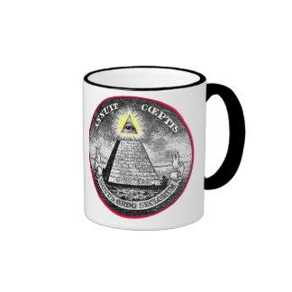 Weird Dollar Symbol Ringer Mug
