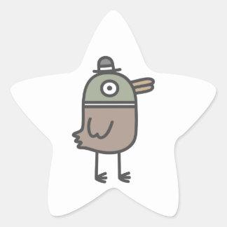 Weird Duck Star Sticker