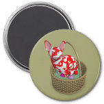 Weird Easter Bunny Cat 3 Inch Round Magnet