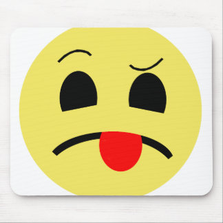 Weird Emoticon Mouse Pad