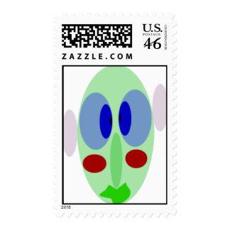 Weird Face Postage Stamp