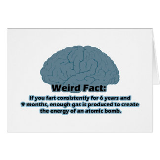 Weird Fact - Atomic Fart Card