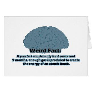 Weird Fact - Atomic Fart Card