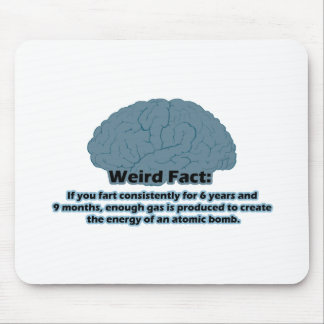 Weird Fact - Atomic Fart Mouse Pad