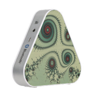Weird Fractal Design - Red and Green Spirals Dots Bluetooth Speaker