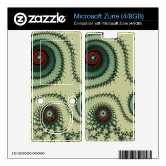 Weird Fractal Design - Red and Green Spirals Dots Skins For Zune