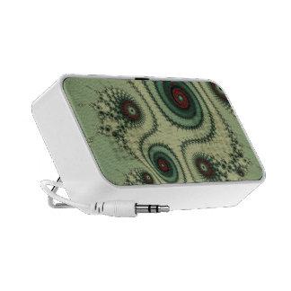 Weird Fractal Design - Red and Green Spirals Dots Speaker