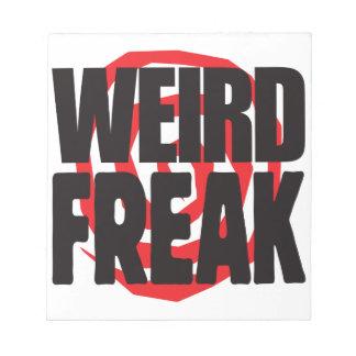 Weird Freak Memo Note Pads