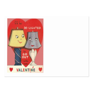 Weird Funny Lamp Light Heart Valentine Large Business Cards (Pack Of 100)