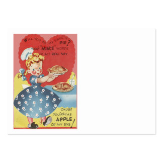 Weird Funny Mince Apple Pie Waitress Valentine Large Business Cards (Pack Of 100)