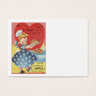 Weird Funny Mince Apple Pie Waitress Valentine Business Card