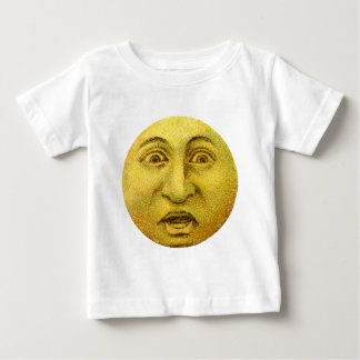 Weird Funny Vintage Moon Man Baby T-Shirt