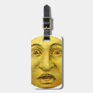 Weird Funny Vintage Moon Man Bag Tag