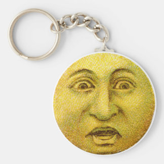 Weird Funny Vintage Moon Man Keychains