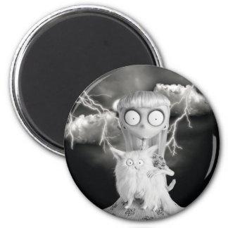 Weird Girl 2 Inch Round Magnet