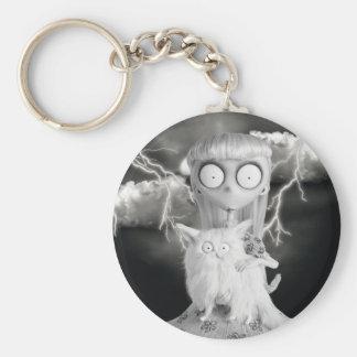 Weird Girl Basic Round Button Keychain