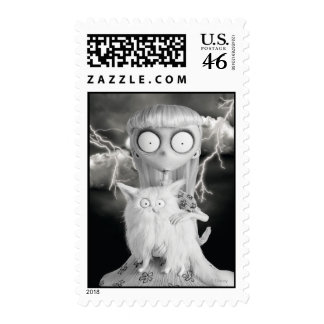 Weird Girl Postage Stamps