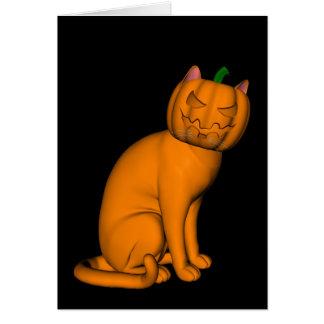 Weird Halloween Cat Card