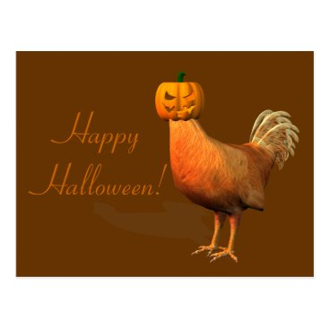 Emangl3D Weird Halloween Rooster Postcard