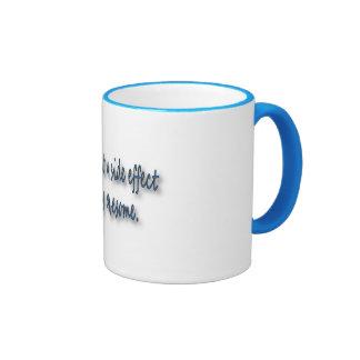 Weird is just a side effect ringer coffee mug