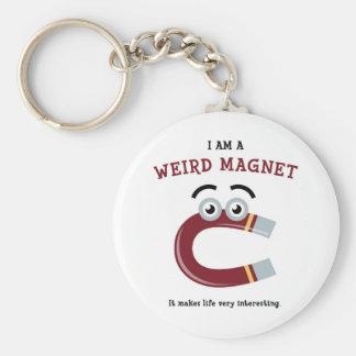 Weird Magnet Basic Round Button Keychain