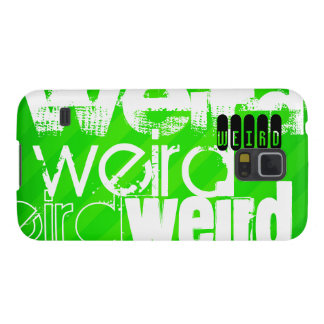 Weird; Neon Green Stripes Galaxy S5 Cover