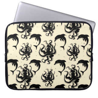 Weird Octopuses and Dolphins | Laptop Sleeve