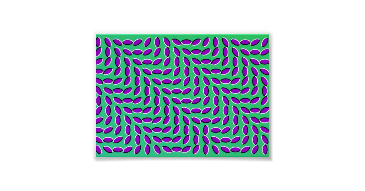 Weird Optical Illusion Looks Like It S Moving Poster