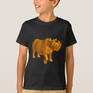Weird Orange Halloween Rhinoceros T-Shirt