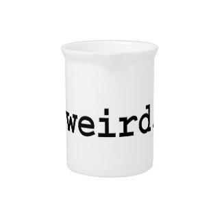 weird. beverage pitchers
