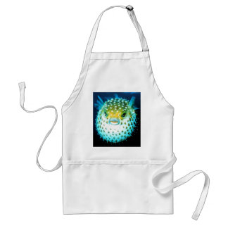Weird Psycho Fish Graphic Photo Image Adult Apron