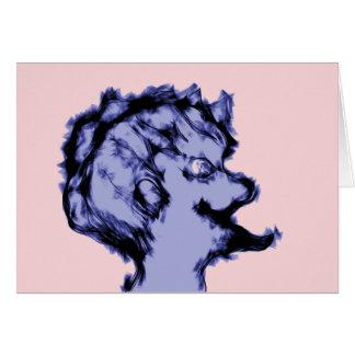 Weird Purple Alien Male Card