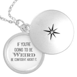 Weird Quote Locket Necklace
