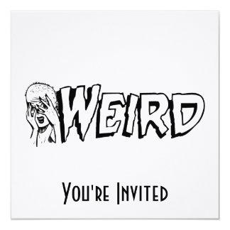 WEIRD - Retro Monster Girl Black & White Card