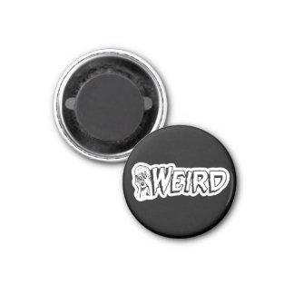 WEIRD - Retro Monster Girl Black & White Magnet